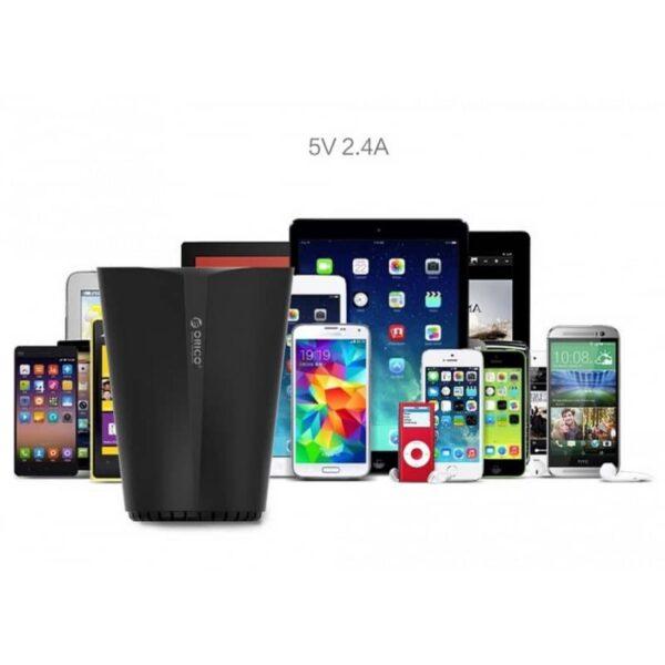 36476 - Многофункциональное зарядное устройство-органайзер ORICO UCH-C3 - 3 х USB, подставка для смартфона, 2 слота для карт