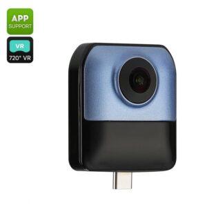 Панорамная мини камера для смартфона – двойной объектив 360 x 220 градусов, 1080P видео, для Android