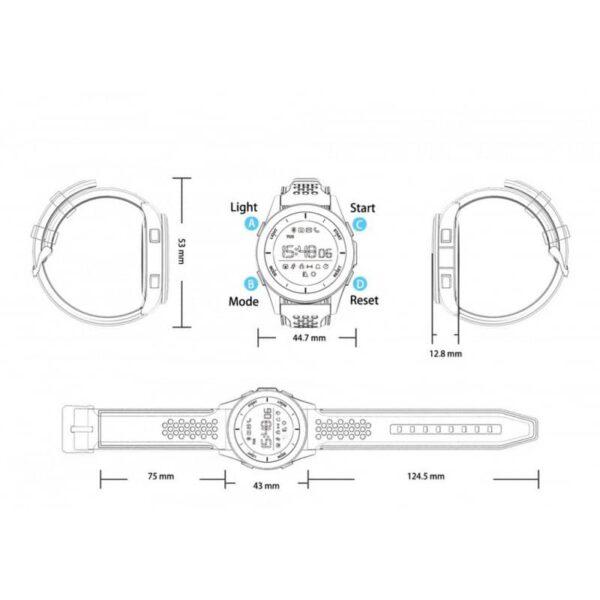 36679 - Спортивные умные часы NO.1 F3 Sports - шагомер, монитор сна, контроль активности, IP68