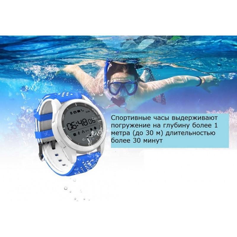 Спортивные умные часы NO.1 F3 Sports - шагомер, монитор сна, контроль активности, IP68 - Синий