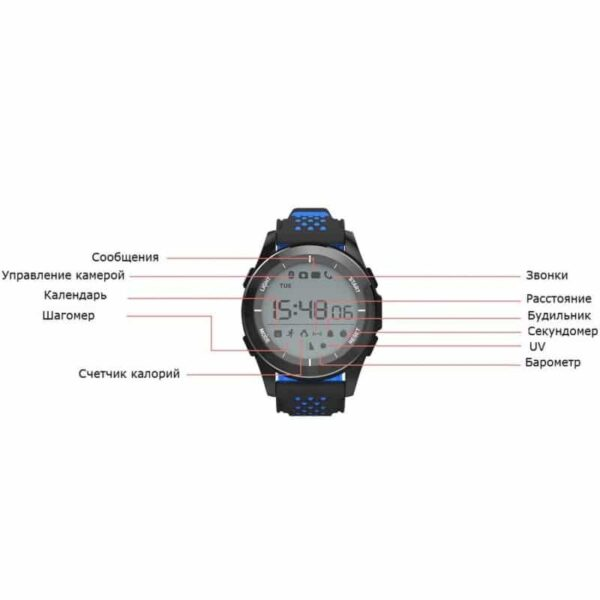 36692 - Спортивные умные часы NO.1 F3 Sports - шагомер, монитор сна, контроль активности, IP68
