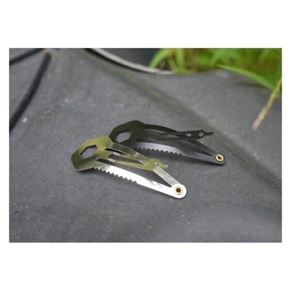 36730 - Многофункциональная заколка EDC 8 в 1: плоская/ большая/ маленькая отвертка, гаечный ключ, линейка, нож, монета для тележек