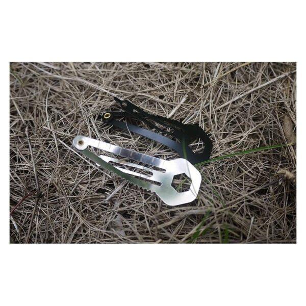 36732 - Многофункциональная заколка EDC 8 в 1: плоская/ большая/ маленькая отвертка, гаечный ключ, линейка, нож, монета для тележек