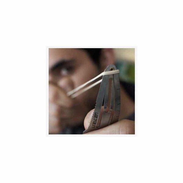 36734 - Многофункциональная заколка EDC 8 в 1: плоская/ большая/ маленькая отвертка, гаечный ключ, линейка, нож, монета для тележек