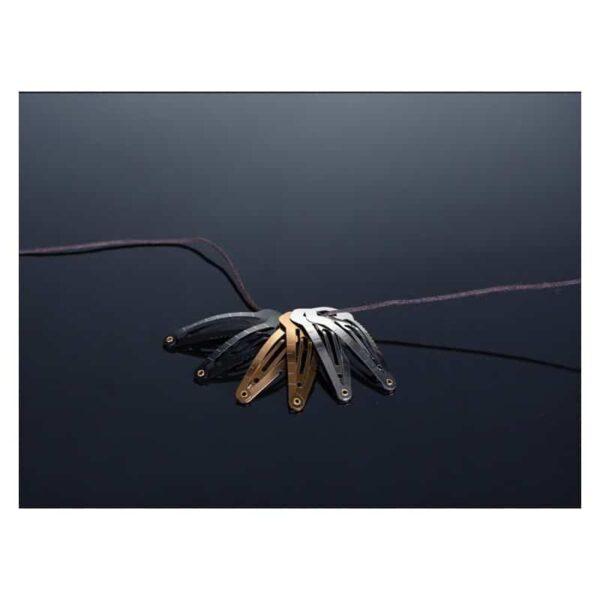 36736 - Многофункциональная заколка EDC 8 в 1: плоская/ большая/ маленькая отвертка, гаечный ключ, линейка, нож, монета для тележек