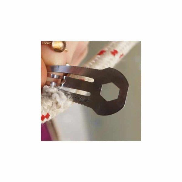 36742 - Многофункциональная заколка EDC 8 в 1: плоская/ большая/ маленькая отвертка, гаечный ключ, линейка, нож, монета для тележек