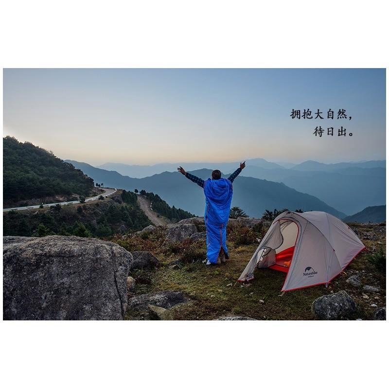 Теплый спальный мешок-комбинезон (спальник-трансформер с ногами) NatureHike + компрессионный чехол: t° комфорта 10°, 212657
