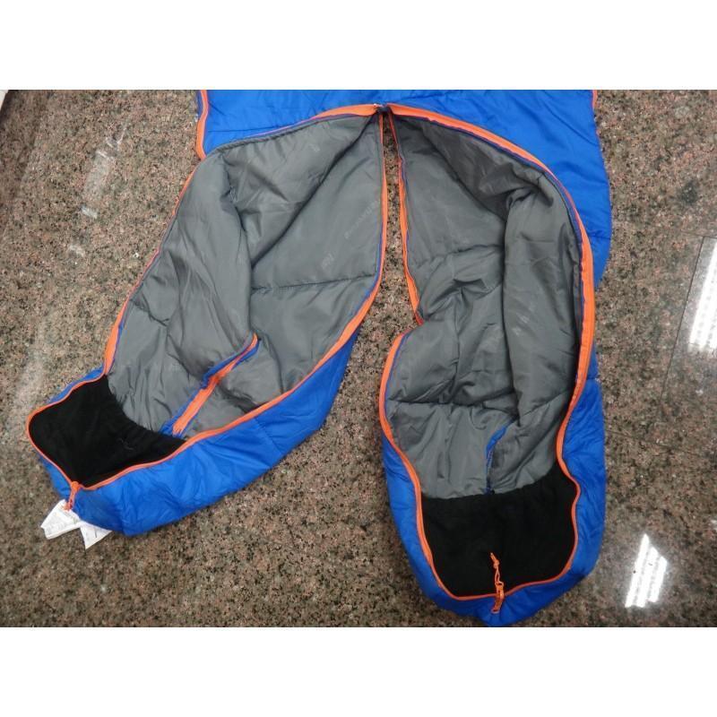 Теплый спальный мешок-комбинезон (спальник-трансформер с ногами) NatureHike + компрессионный чехол: t° комфорта 10°, - S, Синий