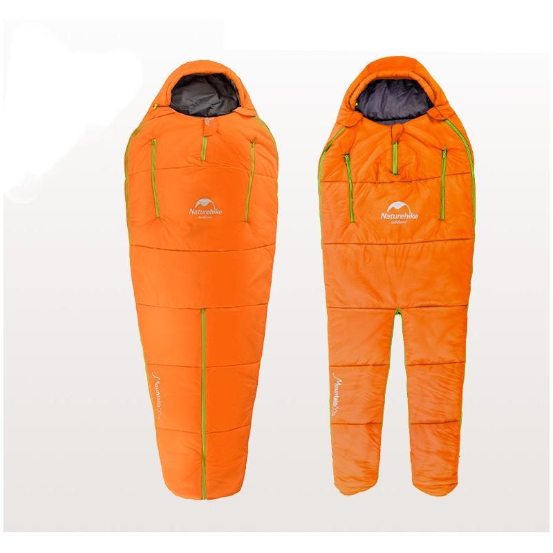 36759 - Теплый спальный мешок-комбинезон (спальник-трансформер с ногами) NatureHike + компрессионный чехол: t° комфорта 10°,