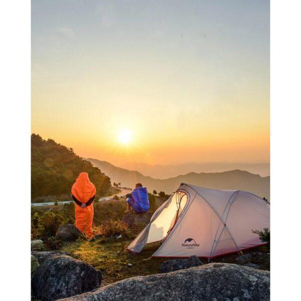 36762 - Теплый спальный мешок-комбинезон (спальник-трансформер с ногами) NatureHike + компрессионный чехол: t° комфорта 10°,