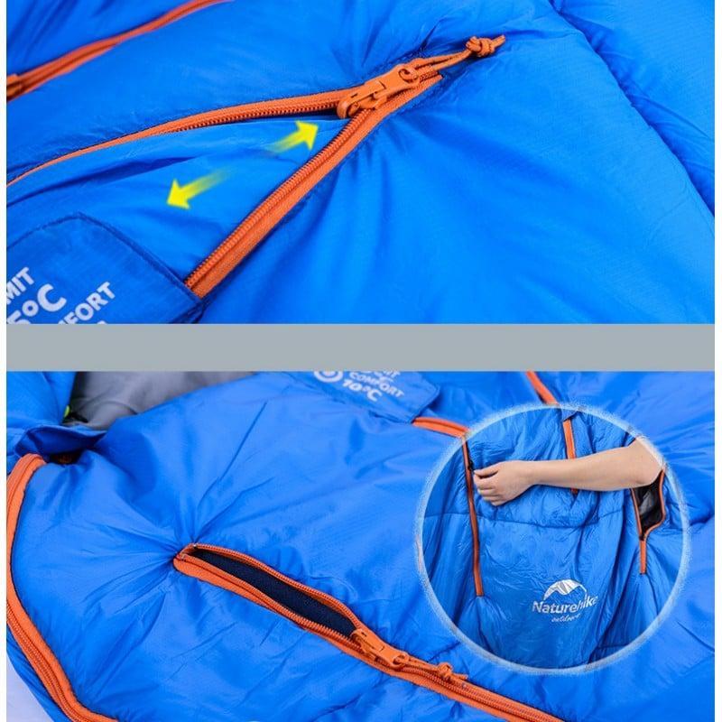 Теплый спальный мешок-комбинезон (спальник-трансформер с ногами) NatureHike + компрессионный чехол: t° комфорта 10°, 212672