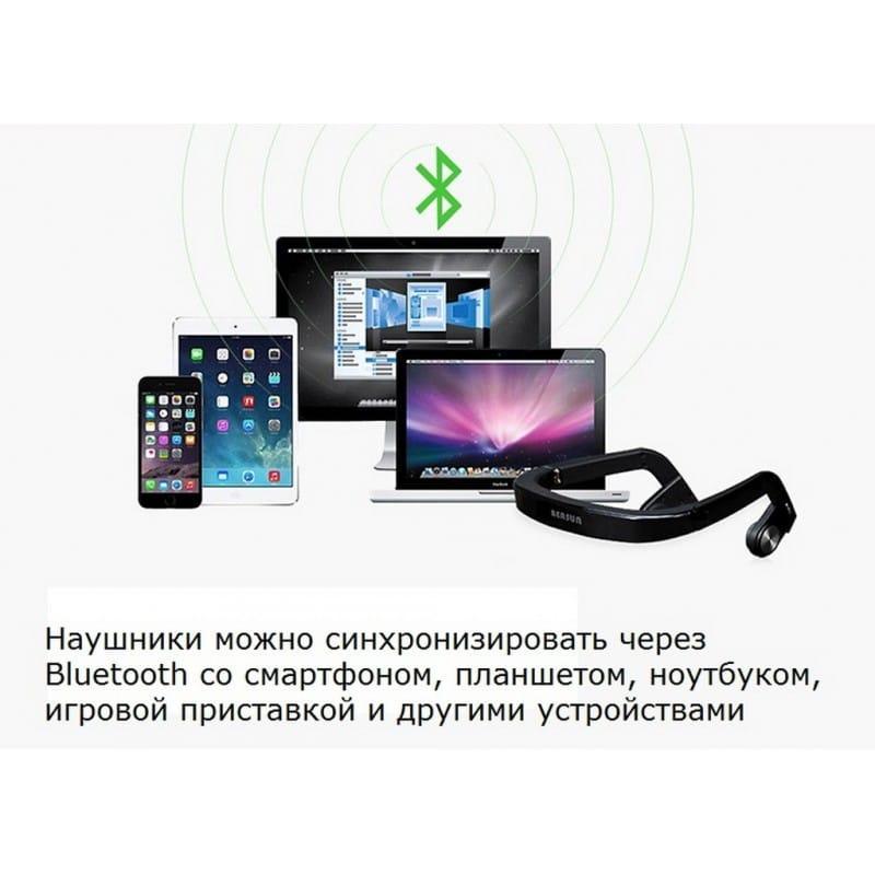 Костные Bluetooth наушники BEASUN ZD100 – Bluetooth 4.0, до 8 часов музыки, микрофон 212769
