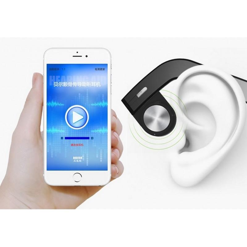 Костные Bluetooth наушники BEASUN ZD100 – Bluetooth 4.0, до 8 часов музыки, микрофон