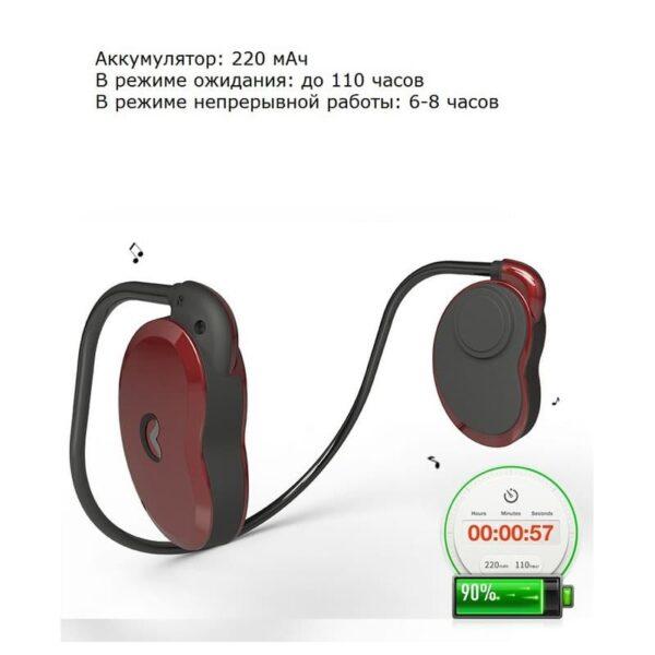 36916 - Bluetooth наушники BEASUN GY1 на основе костной проводимости - Bluetooth 4.1, до 8 часов музыки, микрофон
