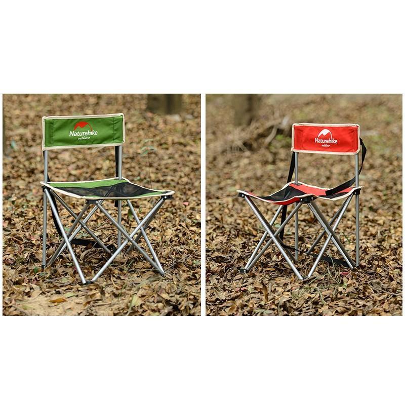 Складной походный стул Naturehike: водонепроницаемый нейлон 600D, сталь, нагрузка свыше 100 кг - Красный