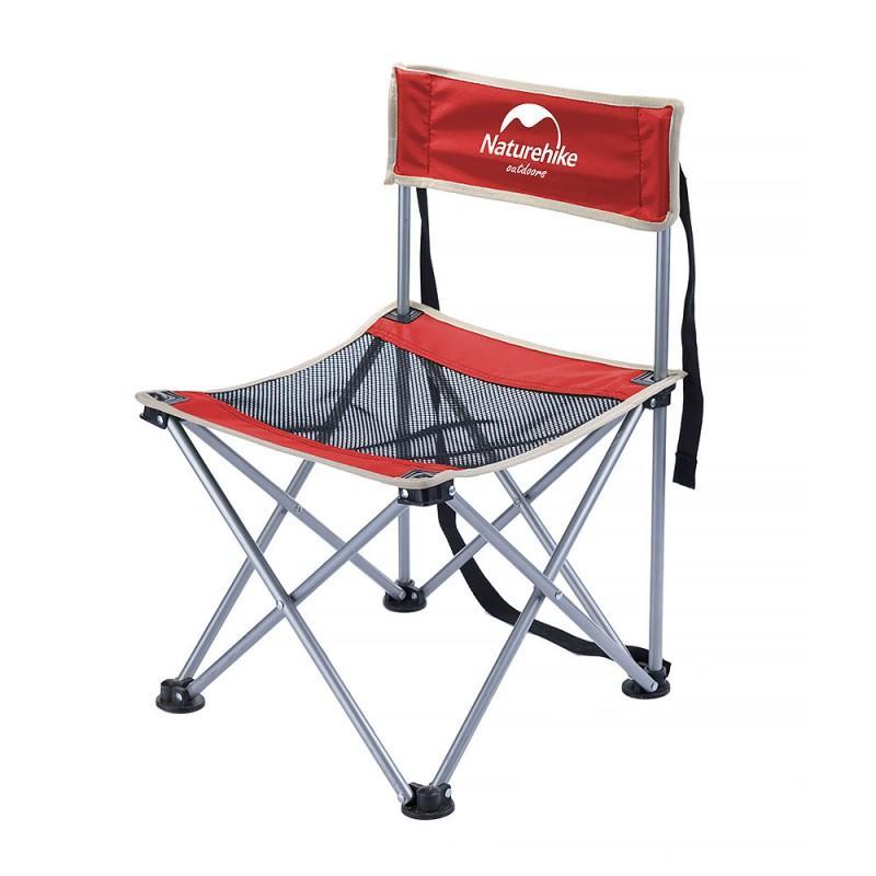 Складной походный стул Naturehike: водонепроницаемый нейлон 600D, сталь, нагрузка свыше 100 кг 212933