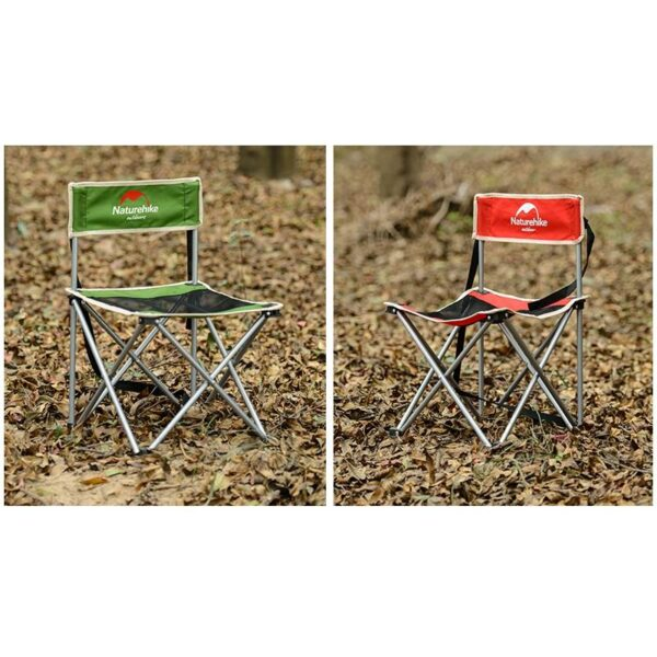 37015 - Складной походный стул Naturehike: водонепроницаемый нейлон 600D, сталь, нагрузка свыше 100 кг