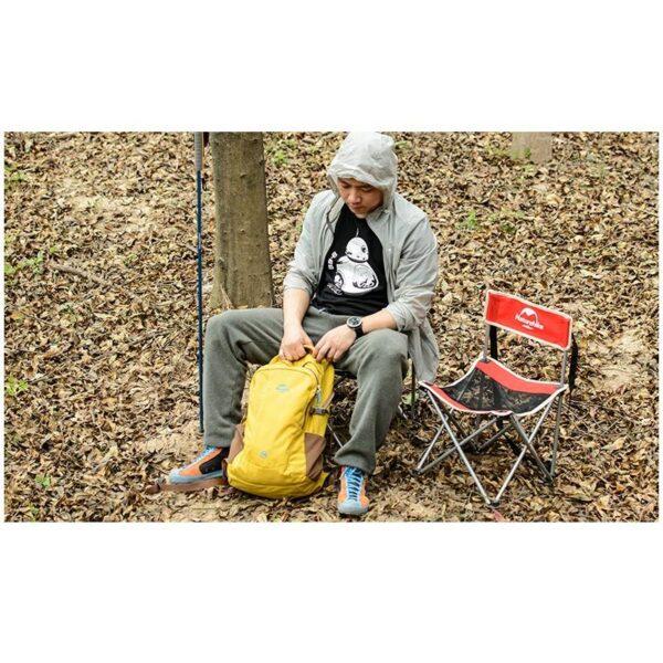 37016 - Складной походный стул Naturehike: водонепроницаемый нейлон 600D, сталь, нагрузка свыше 100 кг