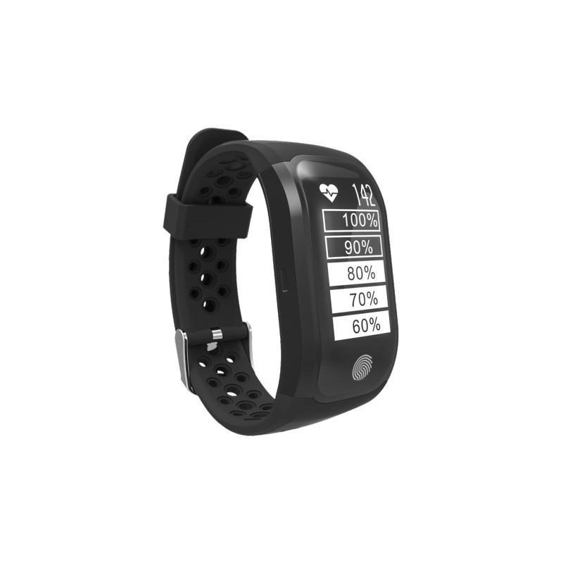 Смарт-часы (фитнес-браслет) S908 с GPS-трекером: IP68, шагомер, пульсометр, Bluetooth 4.0, поддержка IOS, Android, уведомления - Черный