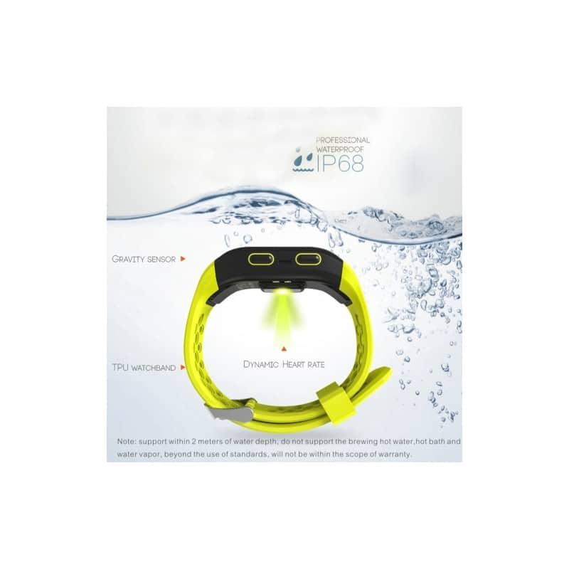 Смарт-часы (фитнес-браслет) S908 с GPS-трекером: IP68, шагомер, пульсометр, Bluetooth 4.0, поддержка IOS, Android, уведомления 212944