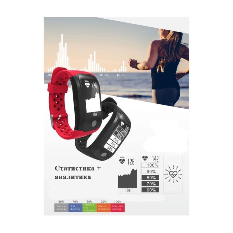 Смарт-часы (фитнес-браслет) S908 с GPS-трекером: IP68, шагомер, пульсометр, Bluetooth 4.0, поддержка IOS, Android, уведомления 212948