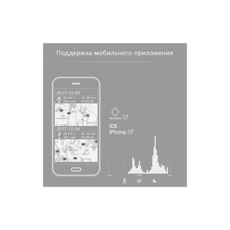 Смарт-часы (фитнес-браслет) S908 с GPS-трекером: IP68, шагомер, пульсометр, Bluetooth 4.0, поддержка IOS, Android, уведомления 212950