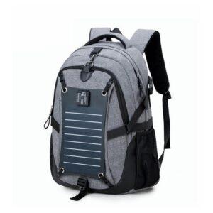 Вместительный рюкзак с солнечной панелью – карман для ноутбука, 2 х USB для зарядки, съемная солнечная панель