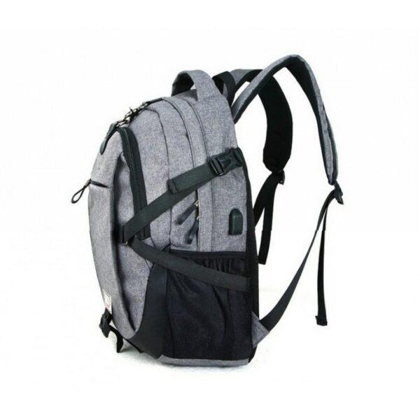 37077 - Вместительный рюкзак с солнечной панелью - карман для ноутбука, 2 х USB для зарядки, съемная солнечная панель