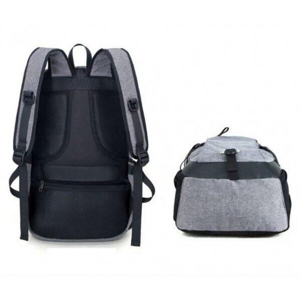 37079 - Вместительный рюкзак с солнечной панелью - карман для ноутбука, 2 х USB для зарядки, съемная солнечная панель