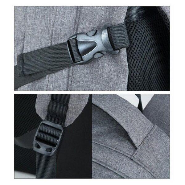 37085 - Вместительный рюкзак с солнечной панелью - карман для ноутбука, 2 х USB для зарядки, съемная солнечная панель