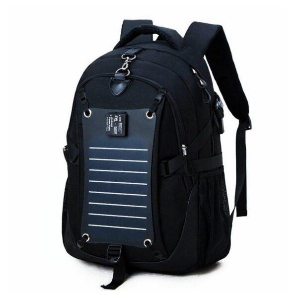 37086 - Вместительный рюкзак с солнечной панелью - карман для ноутбука, 2 х USB для зарядки, съемная солнечная панель