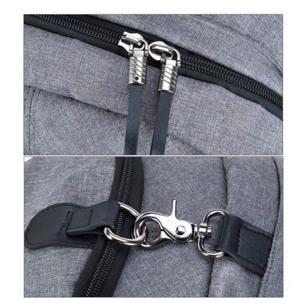 37087 - Вместительный рюкзак с солнечной панелью - карман для ноутбука, 2 х USB для зарядки, съемная солнечная панель