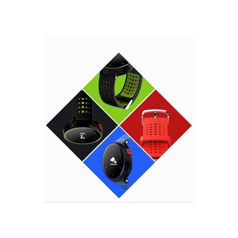 Умные часы X2: OLED-дисплей, IP68, Bluetooth, шагомер, пульсометр, измерение давления, синхронизация со смартфоном (звонки, смс) - Красно-черный