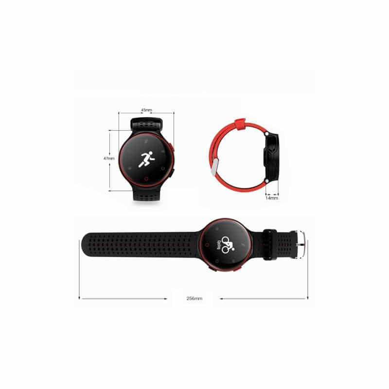 Умные часы X2: OLED-дисплей, IP68, Bluetooth, шагомер, пульсометр, измерение давления, синхронизация со смартфоном (звонки, смс) 213006