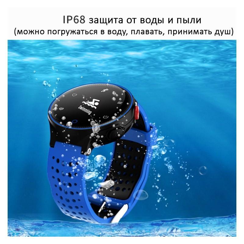 Умные часы X2: OLED-дисплей, IP68, Bluetooth, шагомер, пульсометр, измерение давления, синхронизация со смартфоном (звонки, смс) 213010