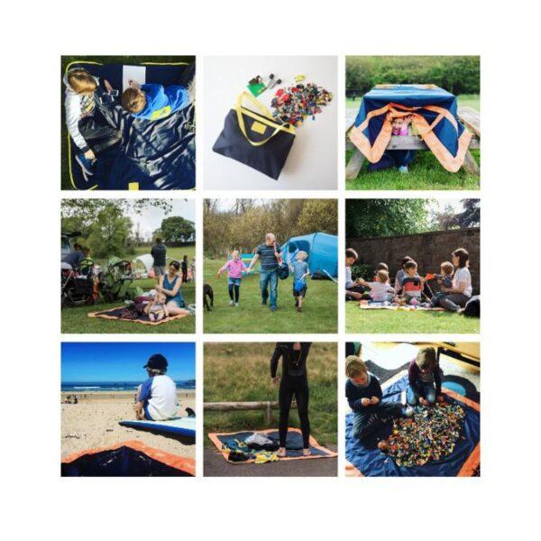 37188 - Универсальное водонепроницаемое покрывало-сумка Miscato для пляжа, пикника, прогулок с детьми