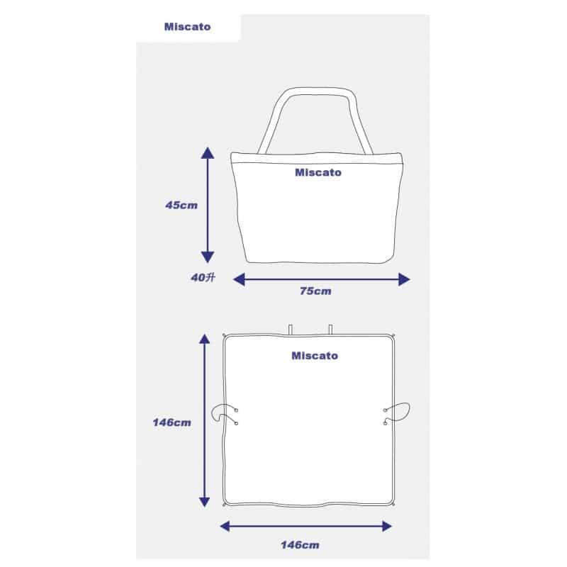 Универсальное водонепроницаемое покрывало-сумка Miscato для пляжа, пикника, прогулок с детьми 213054