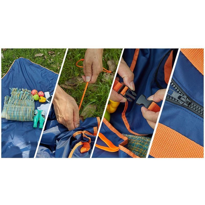 Универсальное водонепроницаемое покрывало-сумка Miscato для пляжа, пикника, прогулок с детьми 213057