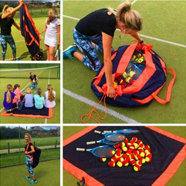 37195 - Универсальное водонепроницаемое покрывало-сумка Miscato для пляжа, пикника, прогулок с детьми