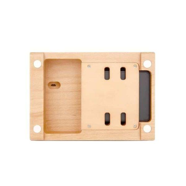 37273 - Деревянное зарядное устройство Seenda 3 in 1 Wood - держатель, 5 портов USB + быстрая зарядка, беспроводная зарядка