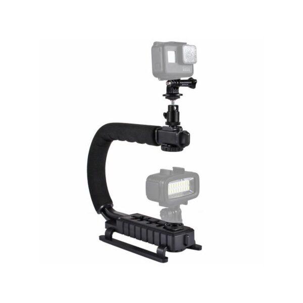 37290 - C/U-образный стедикам PULUZ Kits - головка для штатива, крепление для телефона, мягкая ручка, интерфейс для света и микрофона