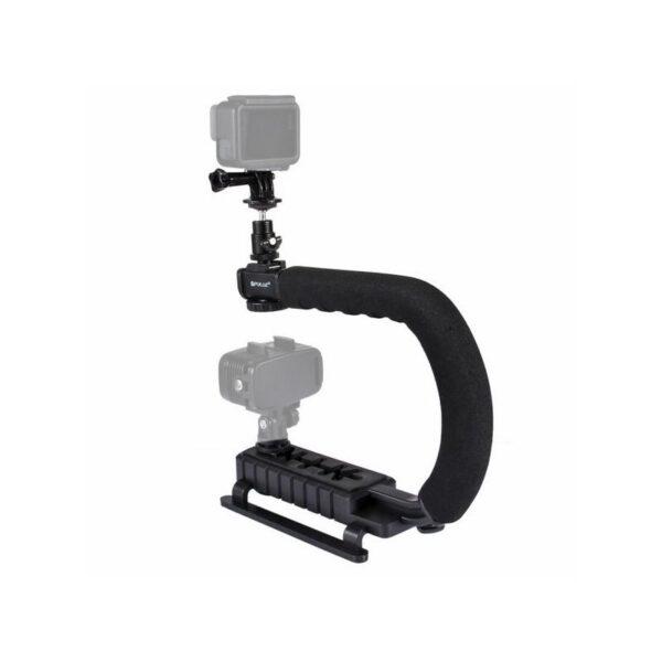 37291 - C/U-образный стедикам PULUZ Kits - головка для штатива, крепление для телефона, мягкая ручка, интерфейс для света и микрофона