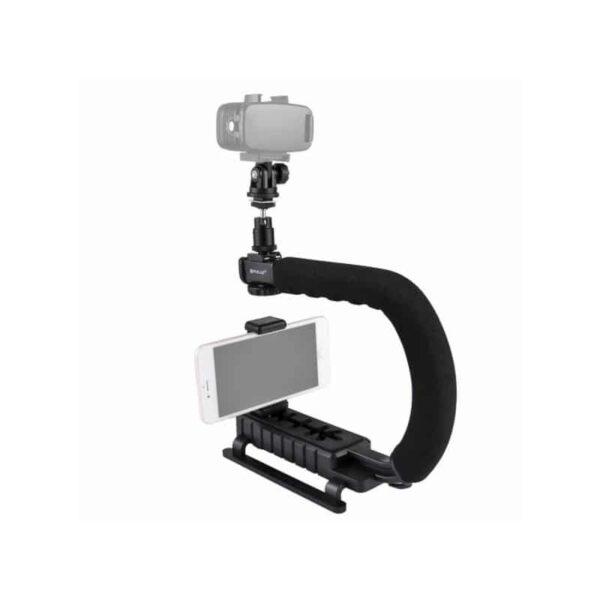 37292 - C/U-образный стедикам PULUZ Kits - головка для штатива, крепление для телефона, мягкая ручка, интерфейс для света и микрофона