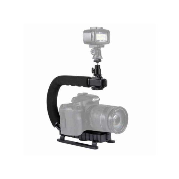 37293 - C/U-образный стедикам PULUZ Kits - головка для штатива, крепление для телефона, мягкая ручка, интерфейс для света и микрофона