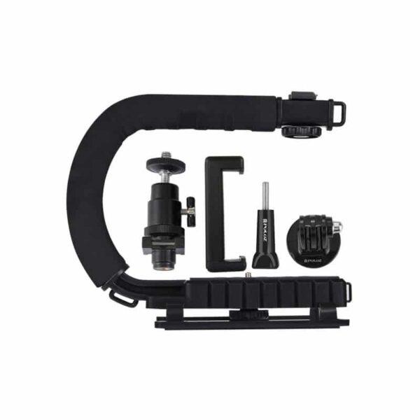 37296 - C/U-образный стедикам PULUZ Kits - головка для штатива, крепление для телефона, мягкая ручка, интерфейс для света и микрофона