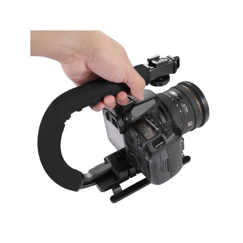 37303 - Портативный стабилизатор PULUZ C/U Shape - 1/4 дюйма, антискользящие накладки, мягкая рука, интерфейс для света