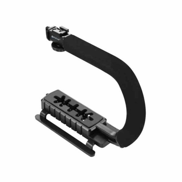 37304 - Портативный стабилизатор PULUZ C/U Shape - 1/4 дюйма, антискользящие накладки, мягкая рука, интерфейс для света