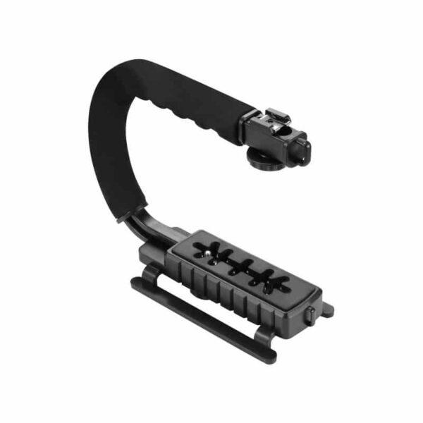 37305 - Портативный стабилизатор PULUZ C/U Shape - 1/4 дюйма, антискользящие накладки, мягкая рука, интерфейс для света