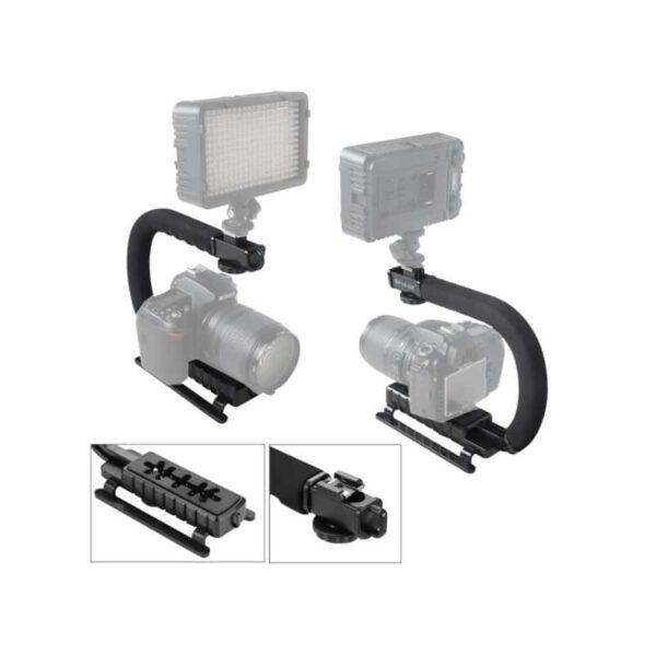 37308 - Портативный стабилизатор PULUZ C/U Shape - 1/4 дюйма, антискользящие накладки, мягкая рука, интерфейс для света