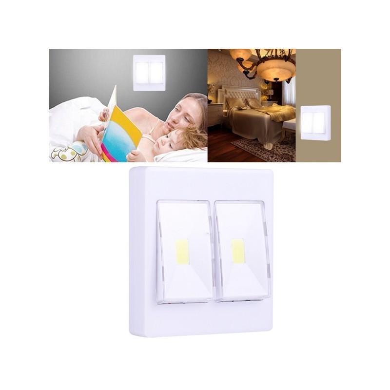 Настенный двойной светильник-ночник Double LED Switch